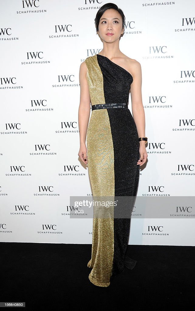 Actress Tang Wei attends IWC flagship store opening ceremony at Parkview Green Shopping Mall on November 22, 2012 in Beijing, China.