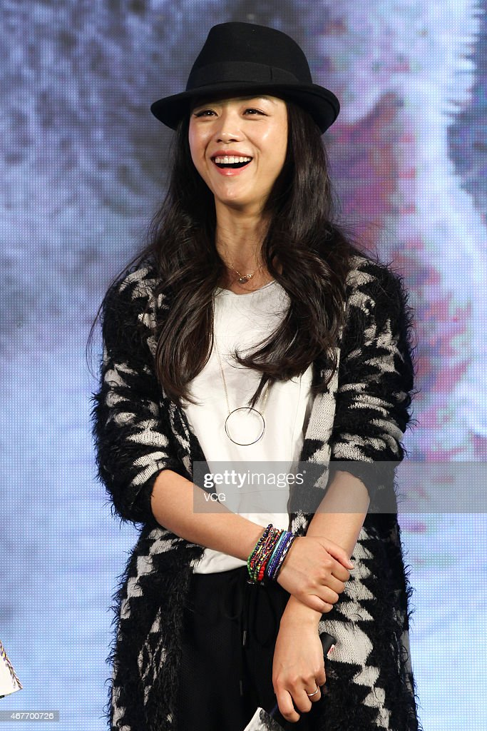 Actress Tang Wei attends press conference of new film 'Monster Hunt' directed by Raman Hui on March 26 2015 in Beijing China