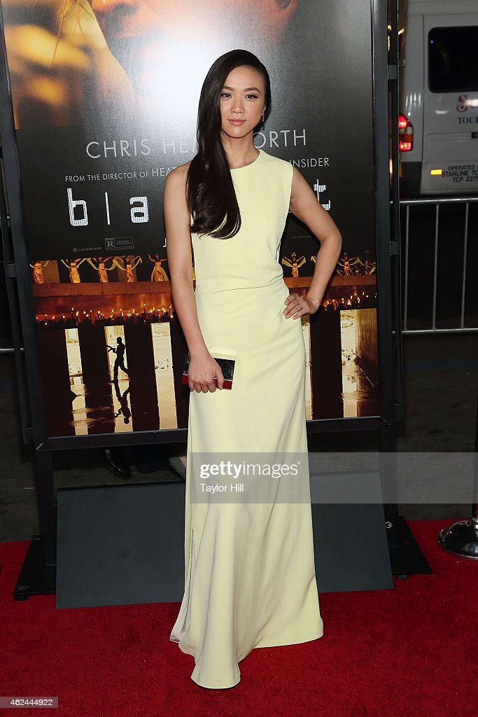 Actress <a gi-track='captionPersonalityLinkClicked' href=/galleries/search?phrase=Tang+Wei&family=editorial&specificpeople=4329520 ng-click='$event.stopPropagation()'>Tang Wei</a> attends the 'Blackhat' Los Angeles premiere at TCL Chinese Theatre IMAX on January 8, 2015 in Hollywood, California.