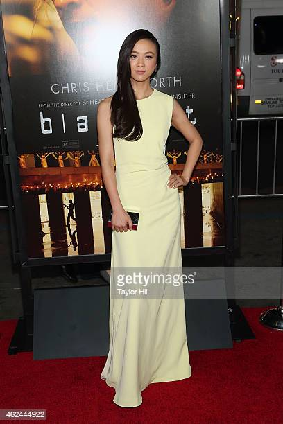 Actress Tang Wei attends the 'Blackhat' Los Angeles premiere at TCL Chinese Theatre IMAX on January 8 2015 in Hollywood California