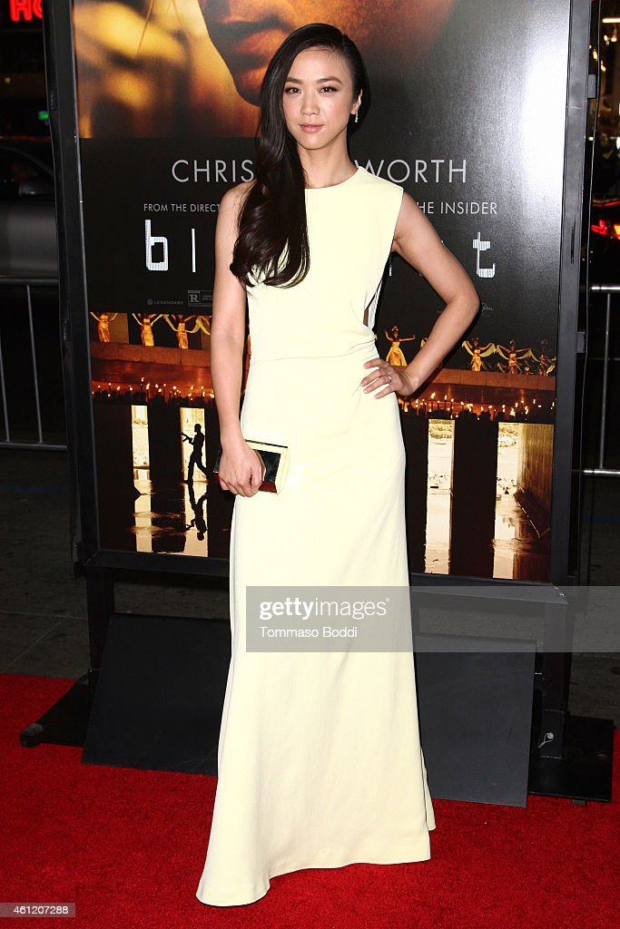 Actress <a gi-track='captionPersonalityLinkClicked' href=/galleries/search?phrase=Tang+Wei&family=editorial&specificpeople=4329520 ng-click='$event.stopPropagation()'>Tang Wei</a> attends the 'Blackhat' Los Angeles premiere held at the TCL Chinese Theatre IMAX on January 8, 2015 in Hollywood, California.