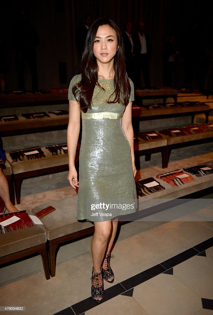 Actress <a gi-track='captionPersonalityLinkClicked' href=/galleries/search?phrase=Tang+Wei&family=editorial&specificpeople=4329520 ng-click='$event.stopPropagation()'>Tang Wei</a> attends the Burberry 'London in Los Angeles' event at Griffith Observatory on April 16, 2015 in Los Angeles, California.