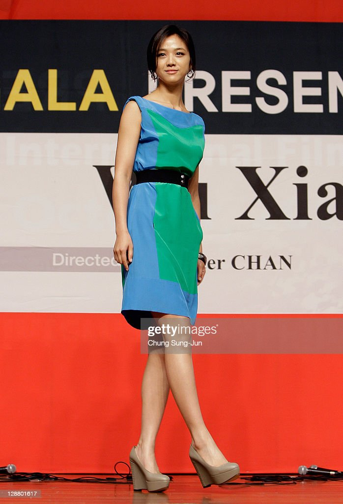 Actress Tang Wei attends the Gala Presentation 'Wu Xia' press conference at Shinsegae Centum city during the 16th Busan International Film Festival (BIFF) on October 9, 2011 in Busan, South Korea. The biggest film festival in Asia showcases 307 films from 70 countries and runs from October 6-14.