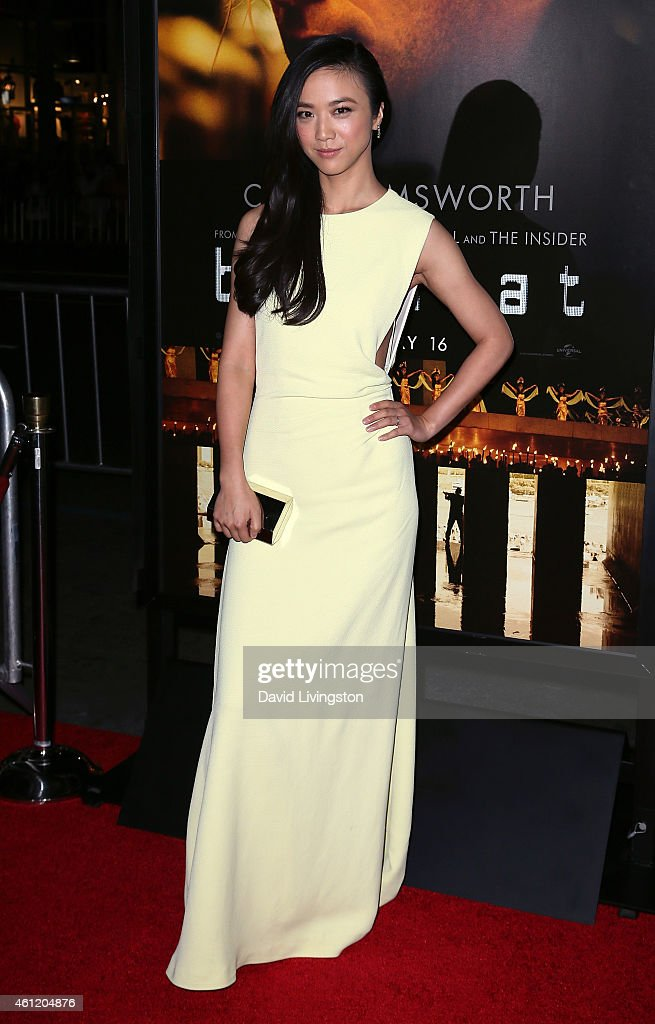 Actress <a gi-track='captionPersonalityLinkClicked' href=/galleries/search?phrase=Tang+Wei&family=editorial&specificpeople=4329520 ng-click='$event.stopPropagation()'>Tang Wei</a> attends the premiere of Universal Pictures and Legendary Pictures' 'Blackhat' at the TCL Chinese Theatre IMAX on January 8, 2015 in Hollywood, California.