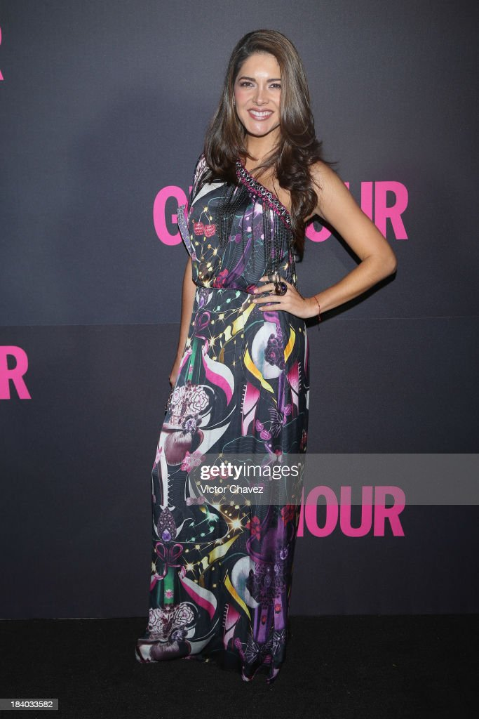 Actress Tania Arredondo attends the Glamour Magazine 15th Anniversary at Casino Del Bosque on October 10, 2013 in Mexico City, Mexico.