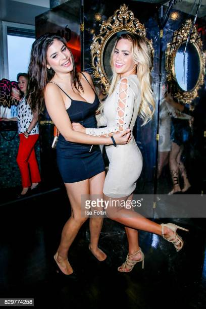 TV actress Tanja Tischewitsch and TV actress Angelina Heger during the Urban Decay Naked Heat Launch at House of Weekend on August 10 2017 in Berlin...