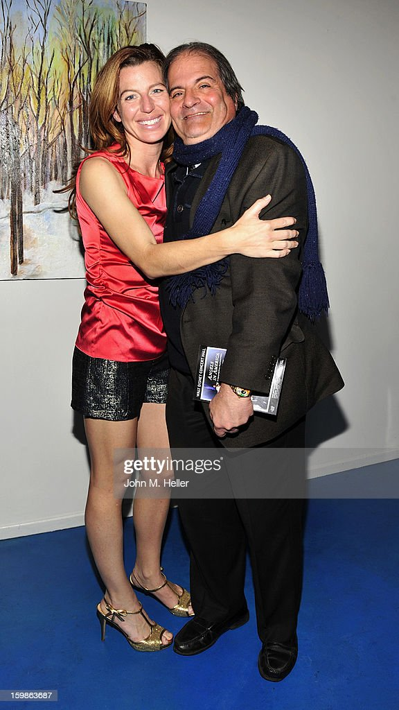 Actress Tann Frederick and publicist Philip Sokoloff attend the opening night of 'The Rainmaker' at Edgemar Center For The Arts on January 11, 2013 in Santa Monica, California.
