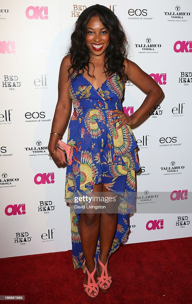 Actress Tanya Chisholm attends the OK! Magazine 'So Sexy' LA party at SkyBar at the Mondrian Los Angeles on April 17, 2013 in West Hollywood, California.