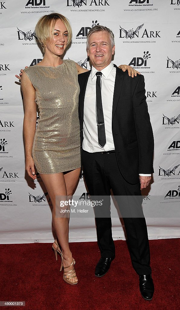Actress Tanya Kay and writer/director Tim Phillips attend the premiere of 'Lion Ark' at the Charles Aidikoff Screening Room on November 15, 2013 in Beverly Hills, California.