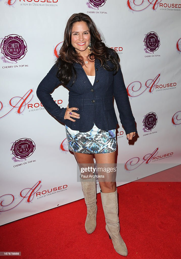 Actress Tanya Memme attends the Los Angeles premiere of 'Aroused' at the Landmark Theater on May 1 2013 in Los Angeles California