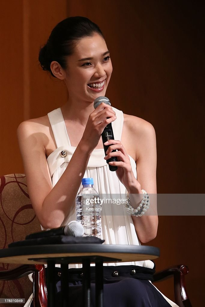 Actress Tao attends the 'The Wolverine' press conference at the Meguro Gajyoen on August 29, 2013 in Tokyo, Japan.