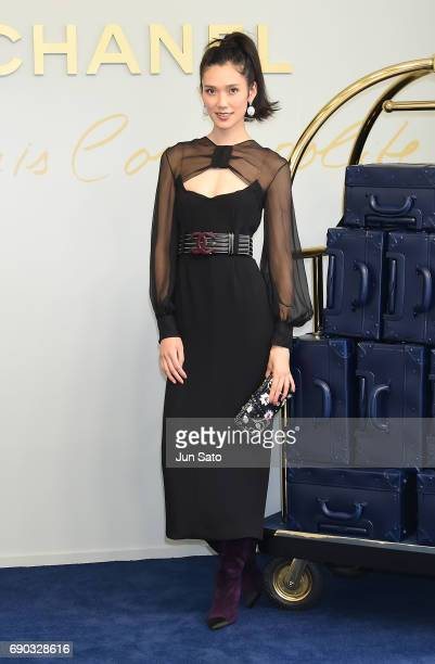 Actress Tao Okamoto attends the CHANEL Metiers D'art Collection Paris Cosmopolite show at the Tsunamachi Mitsui Club on May 31 2017 in Tokyo Japan