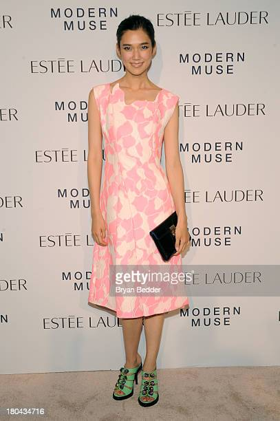 Actress Tao Okamoto attends the Estee Lauder 'Modern Muse' Fragrance Launch Party at the Guggenheim Museum on September 12 2013 in New York City
