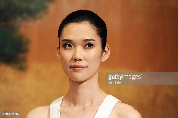 Actress Tao Okamoto attends 'The Wolverine' press conference at the Meguro Gajyoen on August 29 2013 in Tokyo Japan