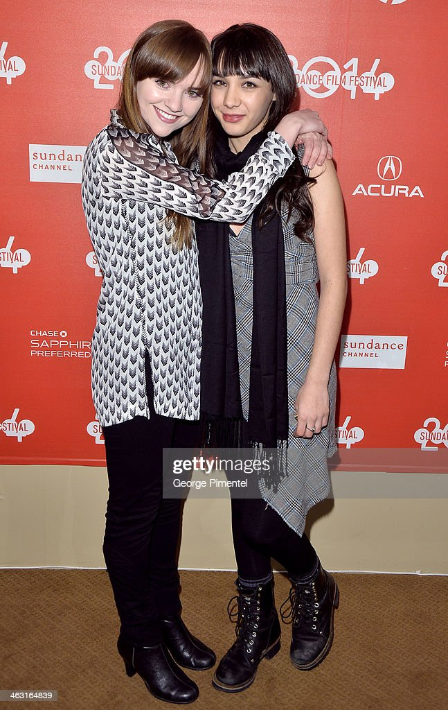 Actress Tara Barr (L) and <a gi-track='captionPersonalityLinkClicked' href=/galleries/search?phrase=Hannah+Marks&family=editorial&specificpeople=572461 ng-click='$event.stopPropagation()'>Hannah Marks</a> attend the premiere of 'The Dawn' at the Egyptian Theatre during the 2014 Sundance Film Festival on January 16, 2014 in Park City, Utah.