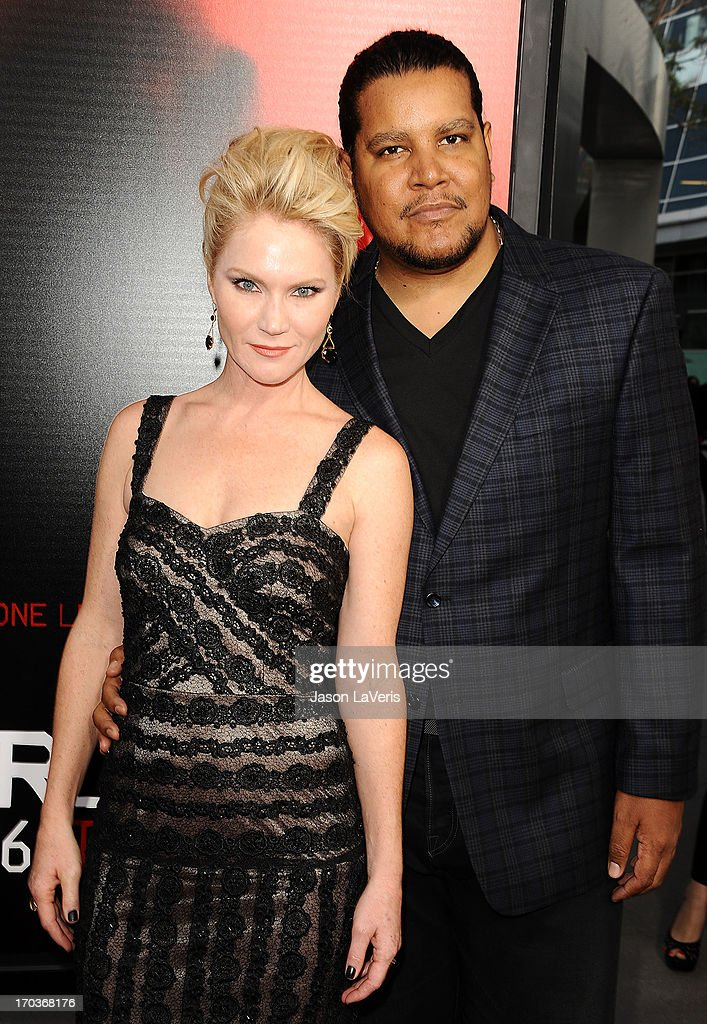 Actress Tara Buck (R) and Chris Pierce attend the season 6 premiere of HBO's 'True Blood' at ArcLight Cinemas Cinerama Dome on June 11, 2013 in Hollywood, California.
