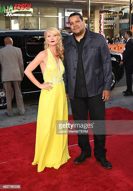 Actress Tara Buck and musician Chris Pierce attend the premiere of HBO's 'True Blood' season 7 and final season at TCL Chinese Theatre on June 17...