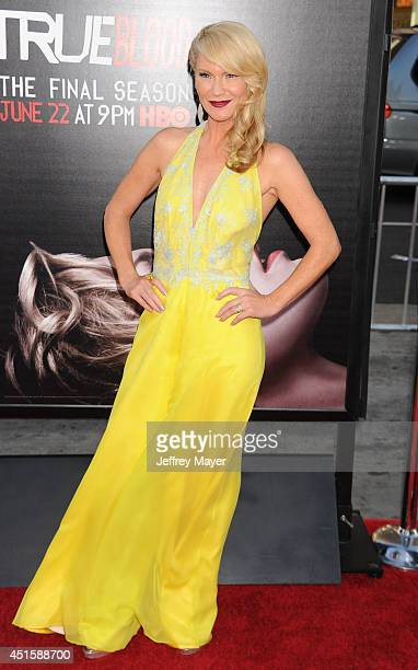 Actress Tara Buck arrives at HBO's 'True Blood' final season premiere at TCL Chinese Theatre on June 17 2014 in Hollywood California