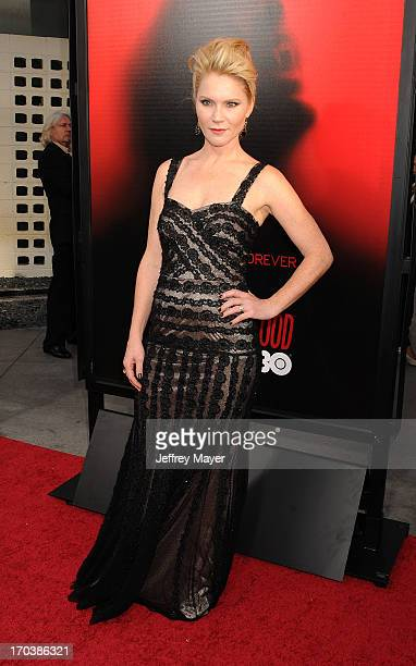 Actress Tara Buck arrives at HBO's 'True Blood' season 6 premiere at ArcLight Cinemas Cinerama Dome on June 11 2013 in Hollywood California