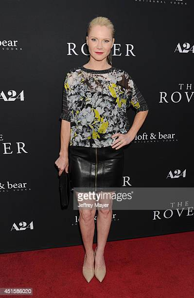 Actress Tara Buck arrives at the Los Angeles premiere of 'The Rover' at Regency Bruin Theatre on June 12 2014 in Los Angeles California