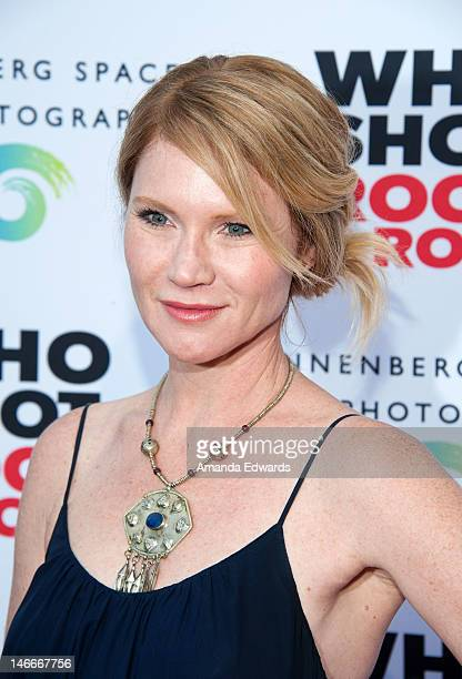 Actress Tara Buck arrives at the opening night party for 'Who Shot Rock Roll A Photographic History 1955Present' at The Annenberg Space For...