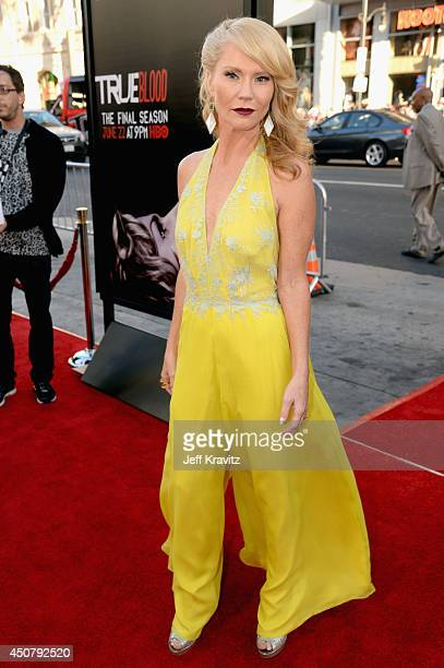 Actress Tara Buck attends HBO 'True Blood' season 7 premiere at TCL Chinese Theatre on June 17 2014 in Hollywood California