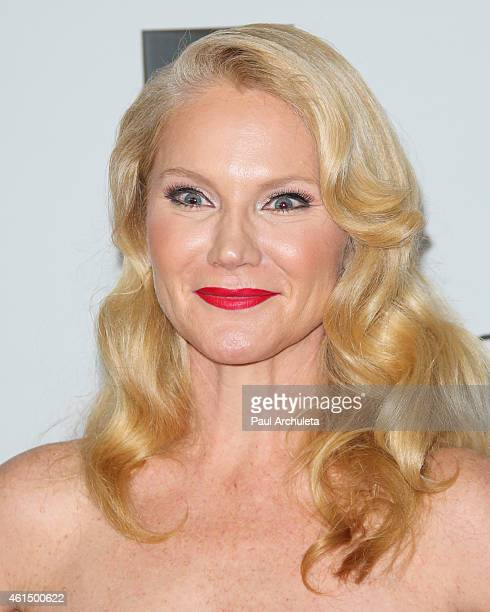 Actress Tara Buck attends NBCUniversal's after party for the 72nd annual Golden Globes Awards at The Beverly Hilton Hotel on January 11 2015 in...
