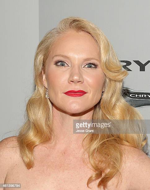 Actress Tara Buck attends the NBCUniversal 2015 Golden Globe Awards Party sponsored by Chrysler at The Beverly Hilton Hotel on January 11 2015 in...