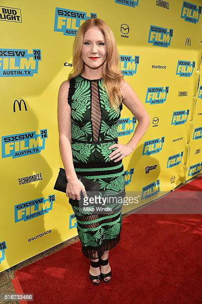 Actress Tara Buck attends the premiere of 'Peewee's Big Holiday' during the 2016 SXSW Music Film Interactive Festival at Paramount Theatre on March...