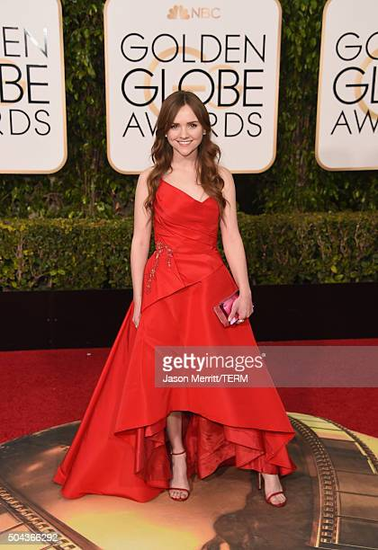 Actress Tara Lynne Barr attends the 73rd Annual Golden Globe Awards held at the Beverly Hilton Hotel on January 10 2016 in Beverly Hills California