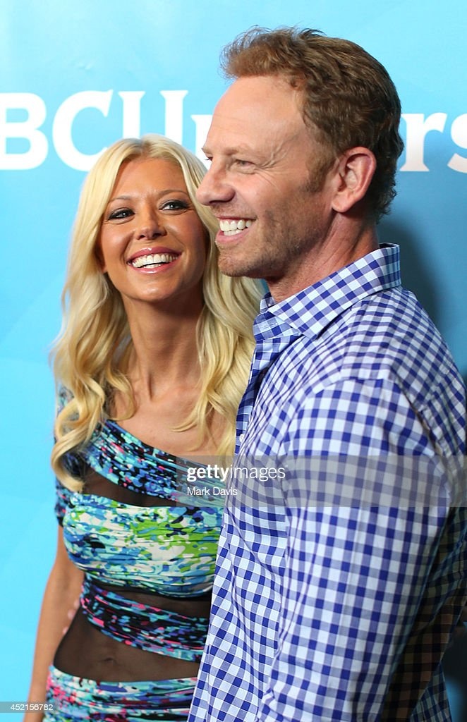 Actress <a gi-track='captionPersonalityLinkClicked' href=/galleries/search?phrase=Tara+Reid&family=editorial&specificpeople=202160 ng-click='$event.stopPropagation()'>Tara Reid</a> and actor <a gi-track='captionPersonalityLinkClicked' href=/galleries/search?phrase=Ian+Ziering&family=editorial&specificpeople=622264 ng-click='$event.stopPropagation()'>Ian Ziering</a> attend NBCUniversal's 2014 Summer TCA Tour day 2 at The Beverly Hilton Hotel on July 14, 2014 in Beverly Hills, California.