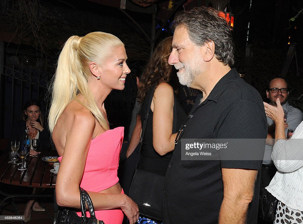 Actress <a gi-track='captionPersonalityLinkClicked' href=/galleries/search?phrase=Tara+Reid&family=editorial&specificpeople=202160 ng-click='$event.stopPropagation()'>Tara Reid</a> and producer David Garber attend the premiere after party of The Asylum & Fathom Events' 'Sharknado 2: The Second One' at Figueroa Hotel on August 21, 2014 in Los Angeles, California.