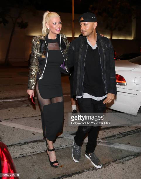 Actress Tara Reid and Ted Dhanik are seen on October 9 2017 in New York City