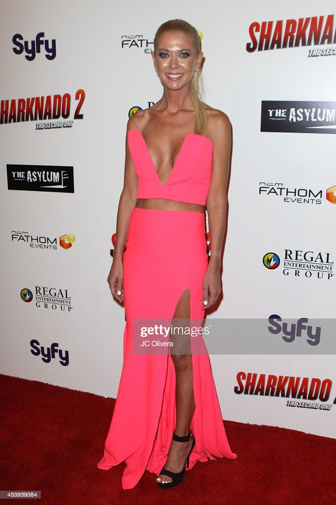 Actress Tara Reid attends 'Sharknado 2 The Second One' Los Angeles Premiere at LA Live on August 21 2014 in Los Angeles California
