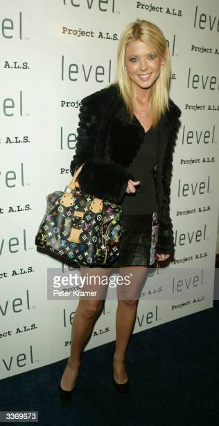Actress Tara Reid attends the Cocktails for a Cause to benefit project ALS on April 14 2004 in New York City