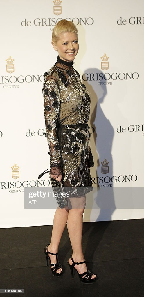 US actress Tara Reid attends the Grisogono Party at the Hotel Eden Roc in Antibes during the 65th Cannes film festival on May 23, 2012.