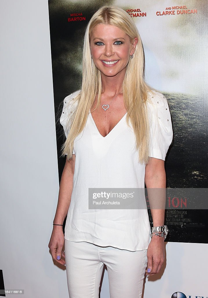 Actress Tara Reid attends the Los Angeles premiere of 'A Resurrection' at the ArcLight Sherman Oaks on March 19, 2013 in Sherman Oaks, California.