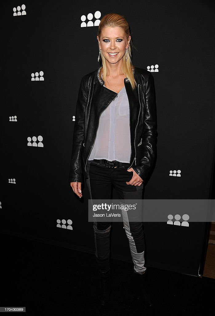 Actress Tara Reid attends the Myspace artist showcase event at El Rey Theatre on June 12, 2013 in Los Angeles, California.