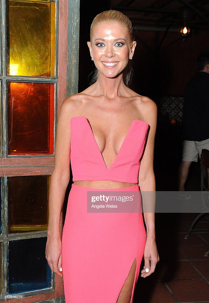 Actress Tara Reid attends the premiere after party of The Asylum Fathom Events' 'Sharknado 2 The Second One' at Figueroa Hotel on August 21 2014 in...