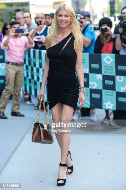 Actress Tara Reid enters the 'AOL Build' taping at the AOL Studios on August 03 2017 in New York City