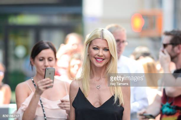 Actress Tara Reid leaves the 'AOL Build' taping at the AOL Studios on August 03 2017 in New York City