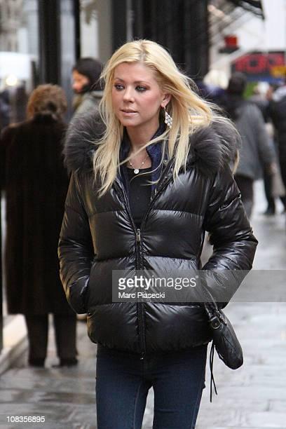 Actress Tara Reid sighting in Paris on January 26 2011 in Paris France