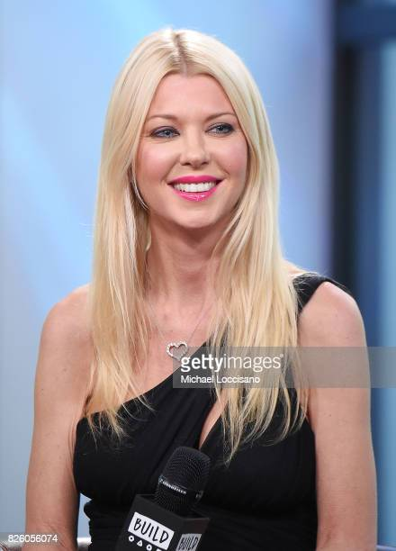 Actress Tara Reid visits the Build Series to discuss the film 'Sharknado 5 Global Swarming' at Build Studio on August 3 2017 in New York City