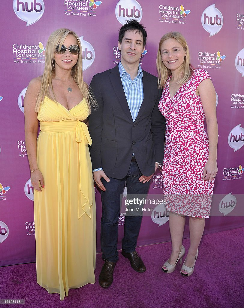 Actress Tara Strong, composer Daniel Ingram and writer Meghan McCarthy arrive at the My Little Pony Coronation Concert at the Brentwood Theatre on February 9, 2013 in Los Angeles, California.