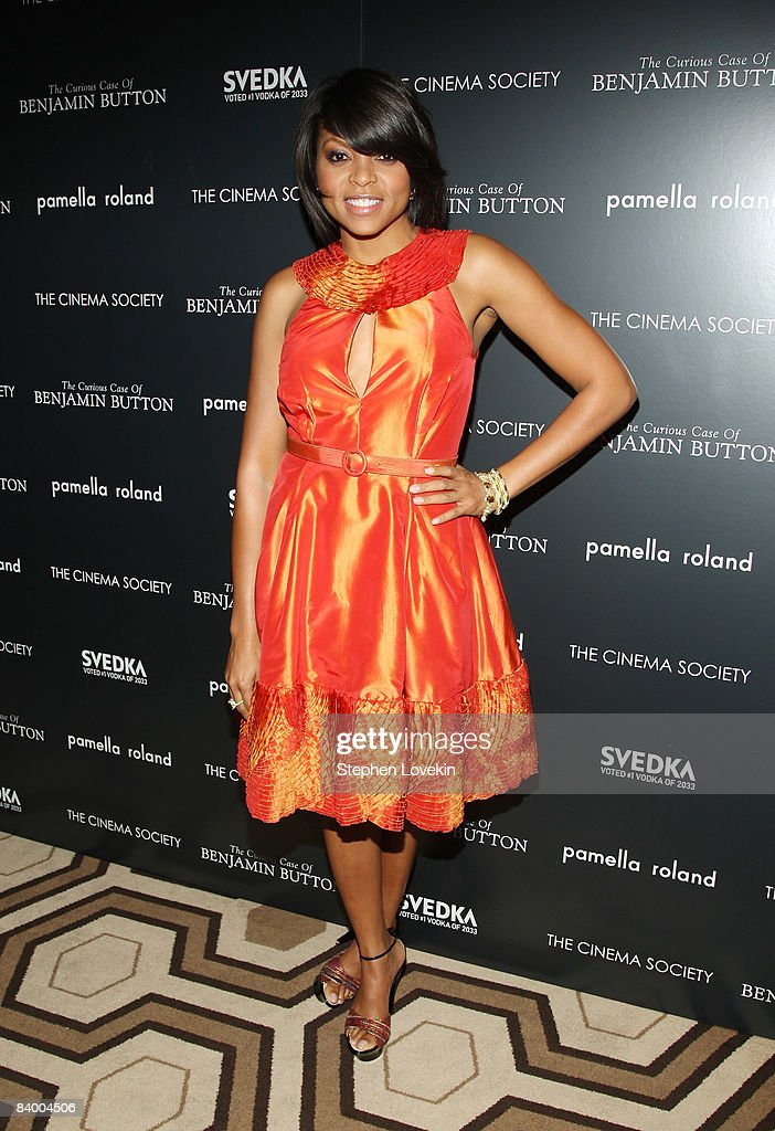 Actress Taraji Henson attends a screening of 'The Curious Case of Benjamin Button' presented by The Cinema Society, Pamella Roland & Svedka at the Tribeca Grand Screening Room on December 11, 2008 in New York City.
