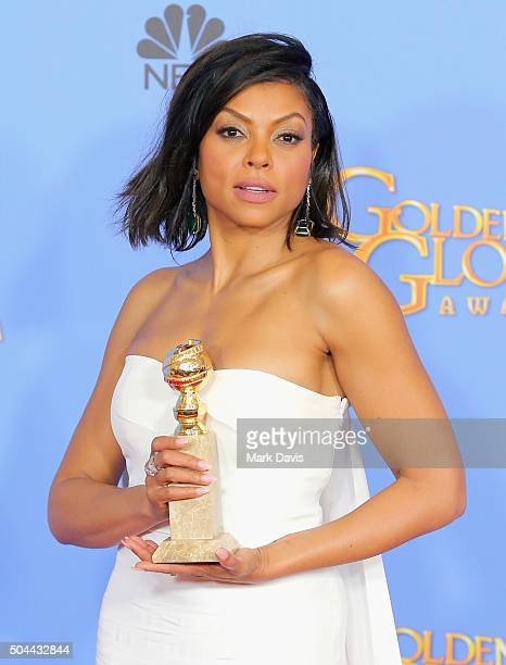Actress Taraji Henson winner of Best Performance by an Actress In A Television Series Drama for 'Empire' poses in the press room during the 73rd...