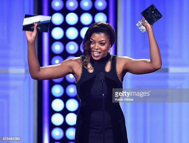 Actress Taraji P Henson accepts the Best Actress in a Drama Series award for 'Empire' onstage at the 5th Annual Critics' Choice Television Awards at...