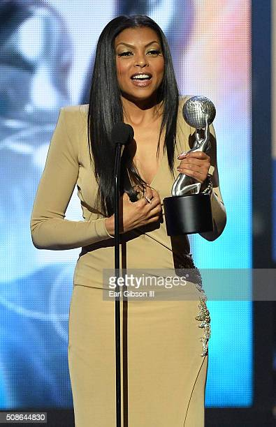 Actress Taraji P Henson accepts the Outstanding Actress in a Drama Series Award onstage during the 47th NAACP Image Awards presented by TV One at...