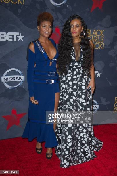 Actress Taraji P Henson and Black Girls Rock Founder Beverly Bond attend Black Girls Rock at New Jersey Performing Arts Center on August 5 2017 in...