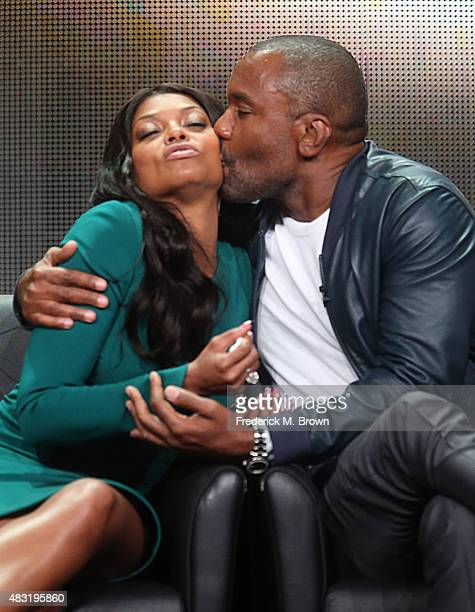 Actress Taraji P Henson and creator/writer/executive producer Lee Daniels speak onstage during the 'Empire' panel discussion at the FOX portion of...